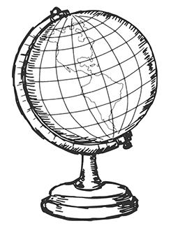Globus-Zeichnung